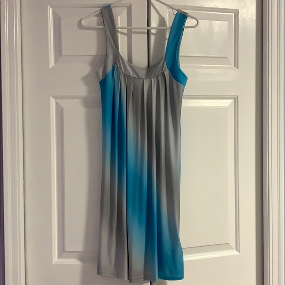 Charlotte Russe turquoise / silver ombré dress
